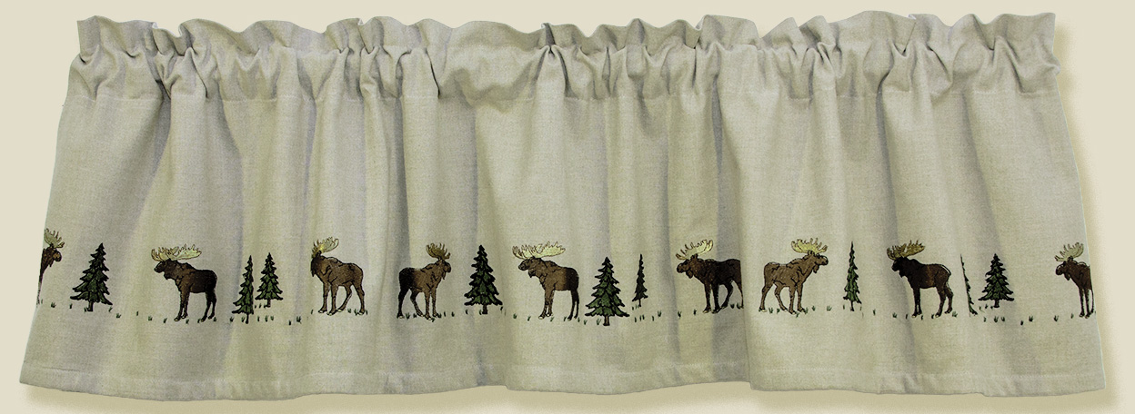 Moose Design Curtain Valance