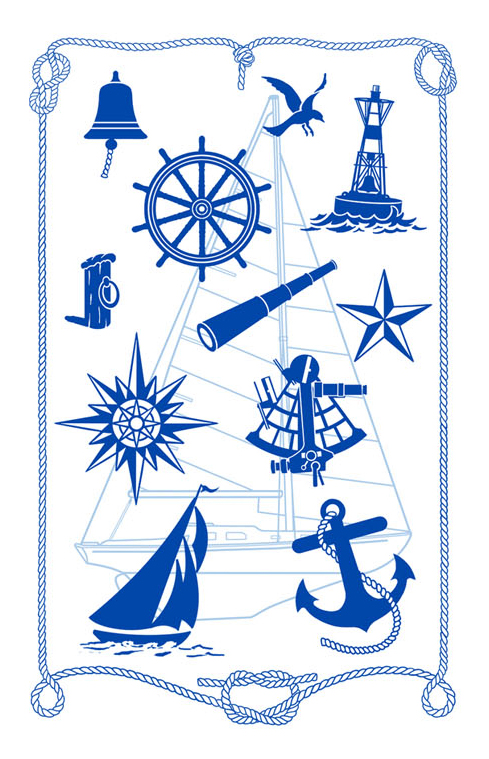 Nautical Dish Towel Paine Products